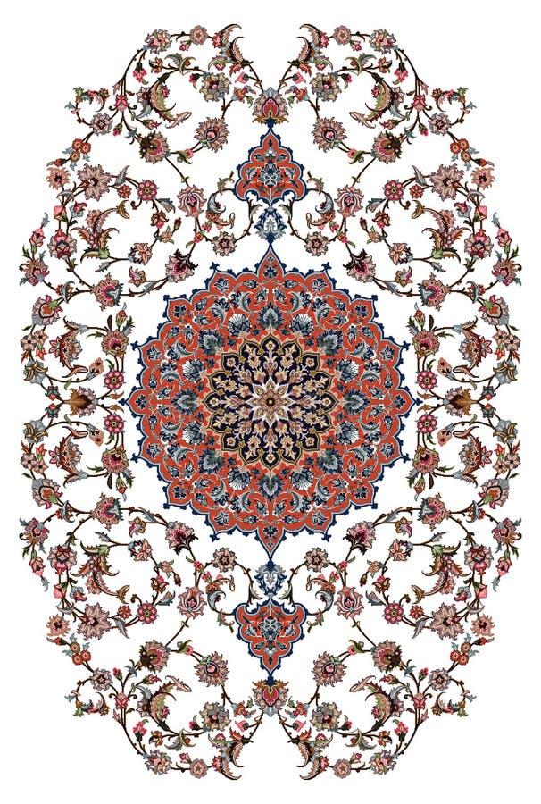 Conception de tapis de Perse illustration libre de droits
