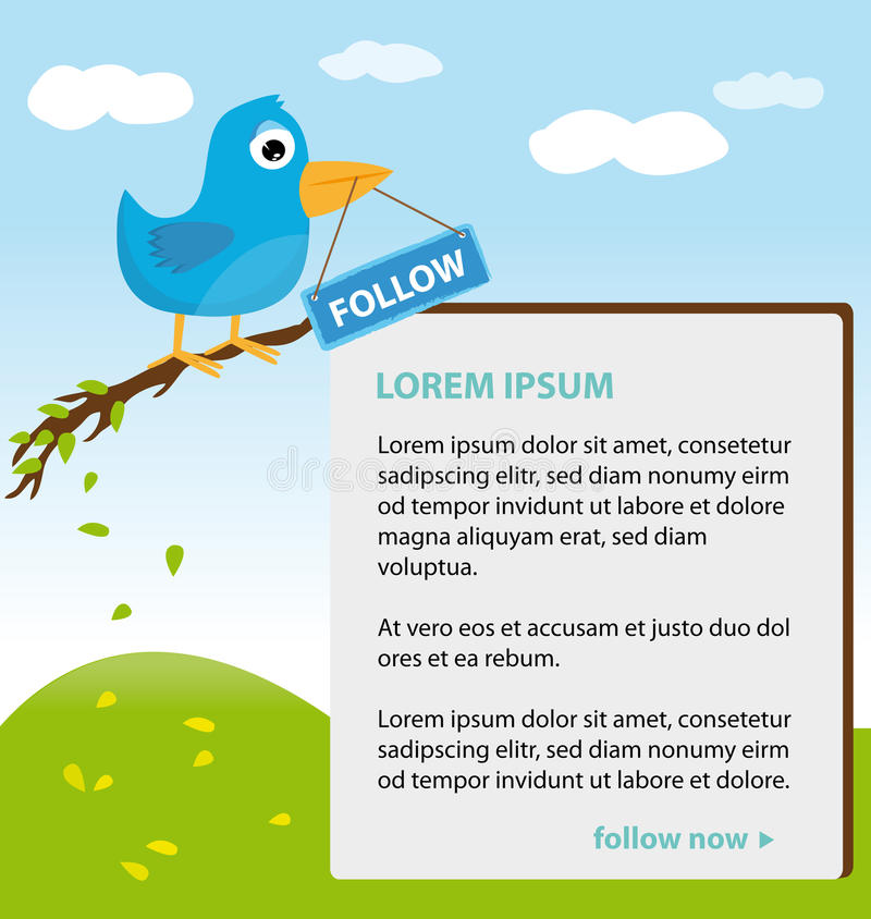 Conception de thème de Twitter illustration stock