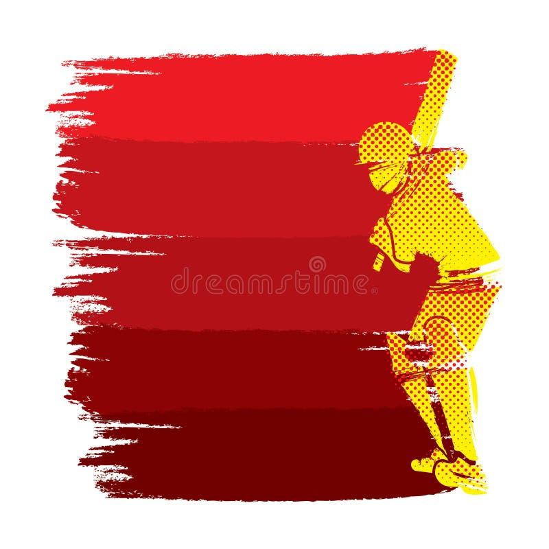 Conception de tir de coup de joueur de cricket illustration stock