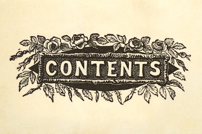 Conception de titre de contenu photos stock