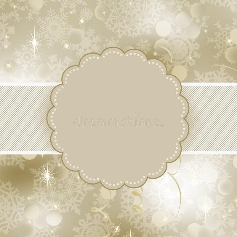 Conception de trame de Noël pour la carte de Noël. ENV 8 illustration stock