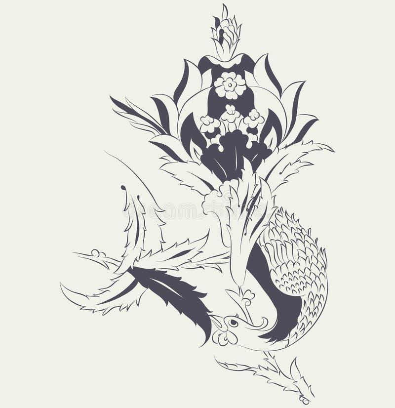 Conception de tuile de Phoenix illustration de vecteur