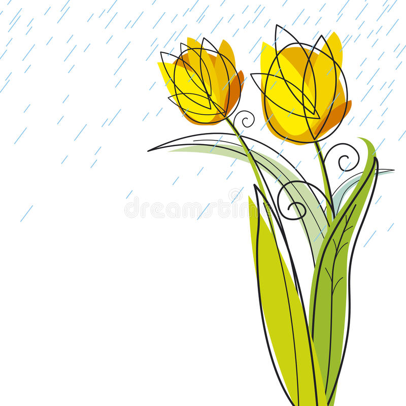Conception de tulipes illustration stock
