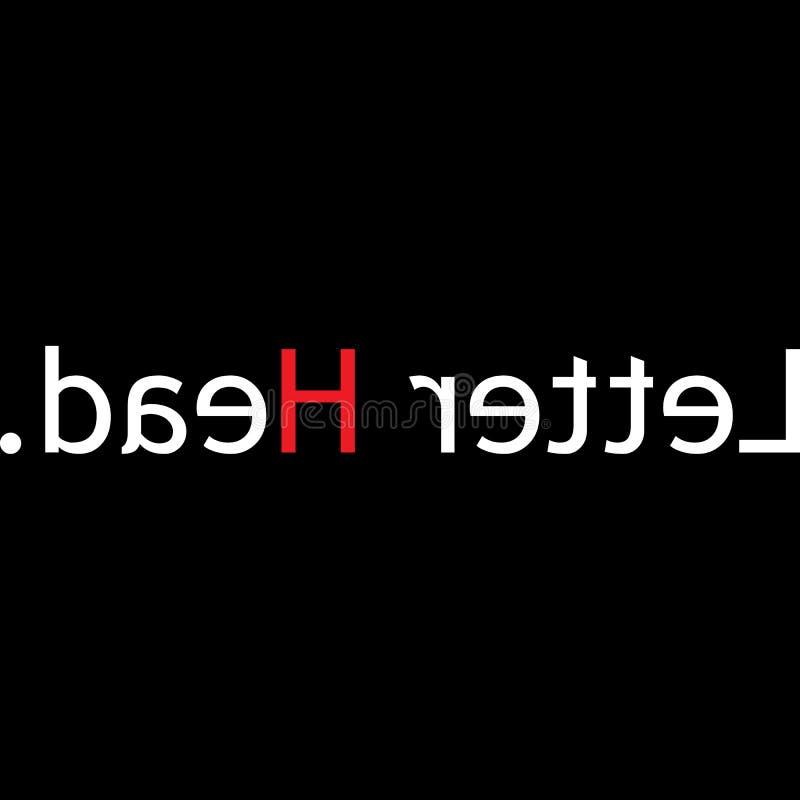 Conception de typographie de lettre pour tous illustration de vecteur