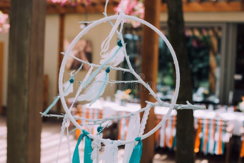 Conception de vacances pour les vacances des enfants dans le style de boho, une fête d'anniversaire des enfants magiques Cadre de photographie stock libre de droits
