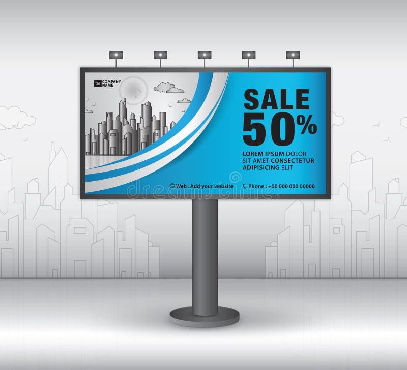 Conception de vecteur de calibre de bannière de panneau d'affichage, publicité, construction réaliste pour la publicité extérieur illustration stock