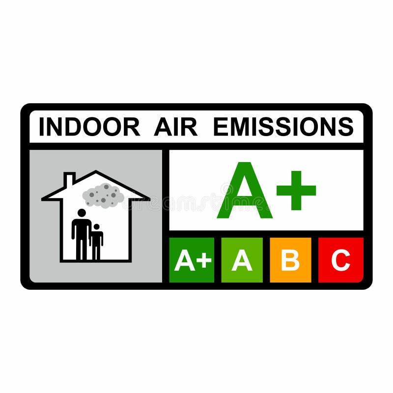 Conception de vecteur d'émissions d'air à l'intérieur des bâtiments photo libre de droits