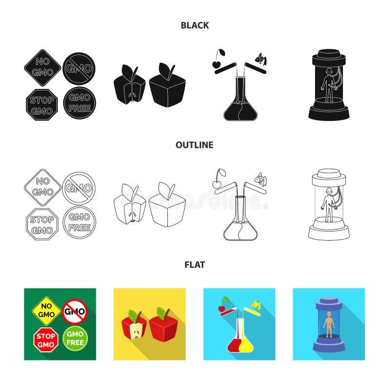 Conception de vecteur d'essai et de symbole synthétique E illustration stock