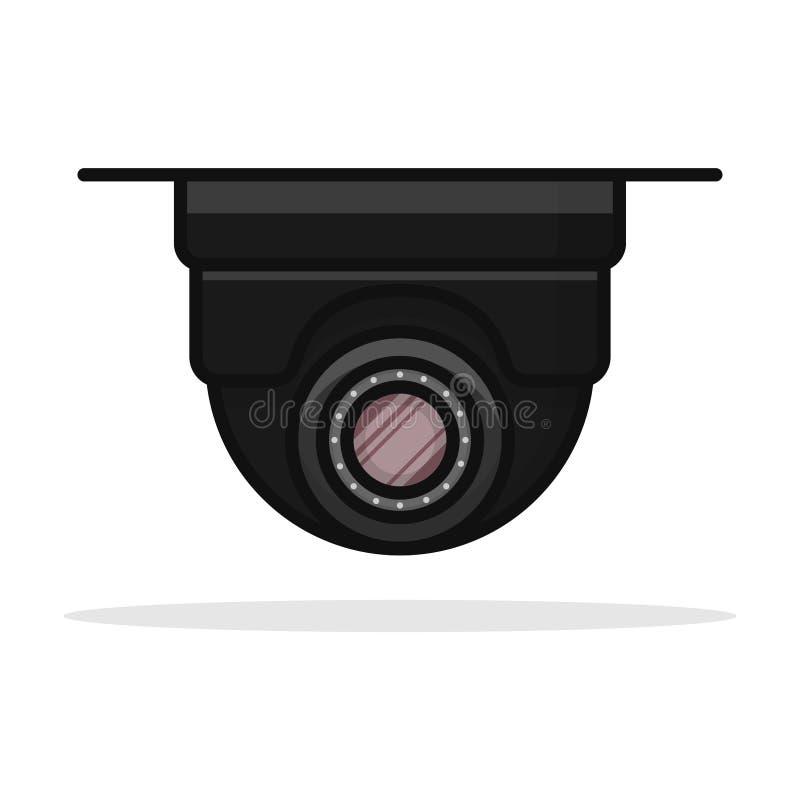 Conception de vecteur d'icône d'appareil-photo de télévision en circuit fermé de plafond illustration de vecteur