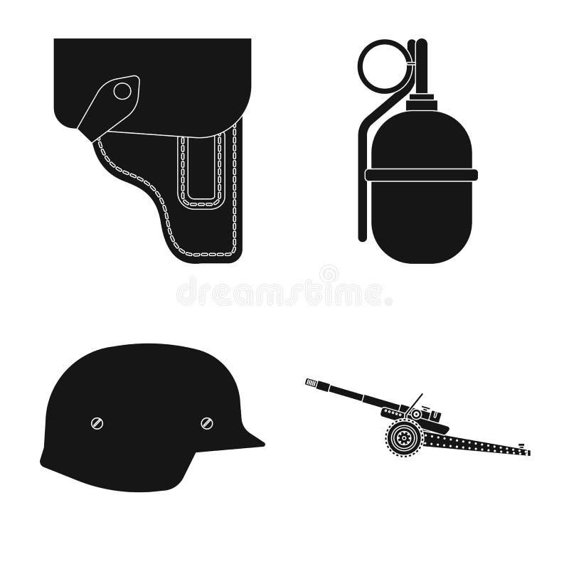 Conception de vecteur d'icône d'arme et d'arme à feu Collection de l'illustration courante de vecteur d'arme et d'armée illustration de vecteur