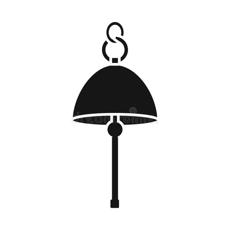 Conception de vecteur d'icône de cloche et de bateau Collection d'illustration de vecteur d'actions de cloche et d'alarme illustration libre de droits
