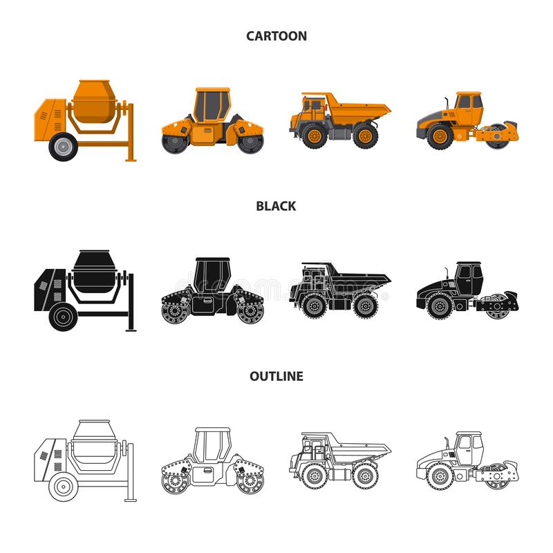 Conception de vecteur d'icône de construction et de construction Ensemble de construction et icône de vecteur de machines pour de illustration libre de droits