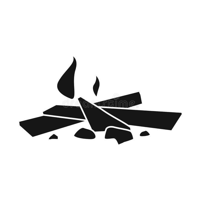 Conception de vecteur d'icône de feu et de combustion Collection de symbole boursier de feu et de bois de chauffage pour le Web illustration libre de droits