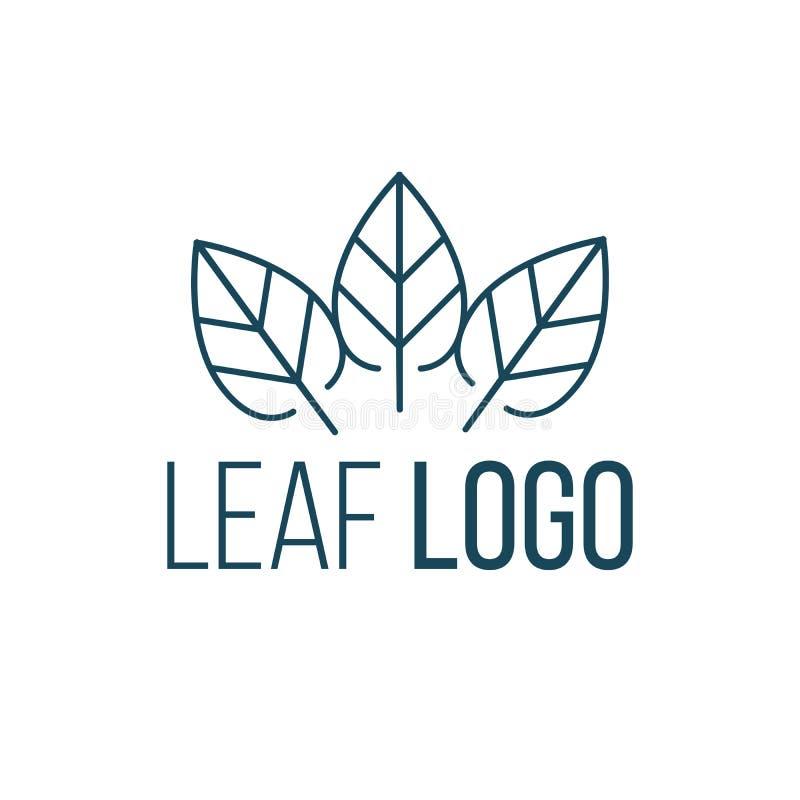 Conception de vecteur d'icône de logo de trois feuilles Conception de paysage, jardin, logo de vecteur d'usine, de nature et d'éc illustration libre de droits