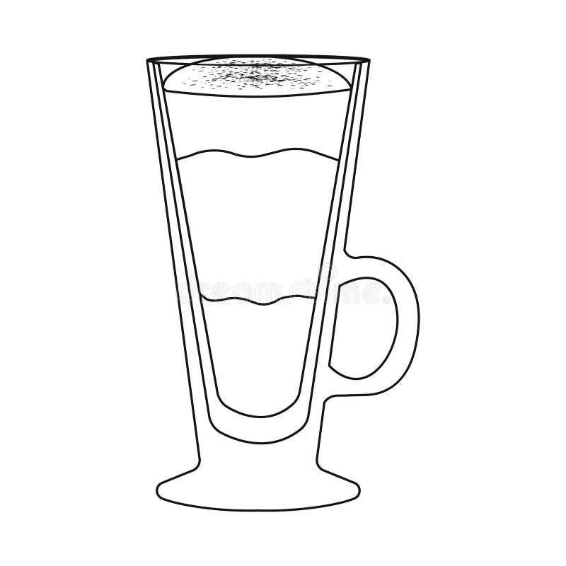 Conception de vecteur d'icône de tasse et de dessert Placez de l'icône de vecteur de tasse et de milk-shake pour des actions illustration de vecteur