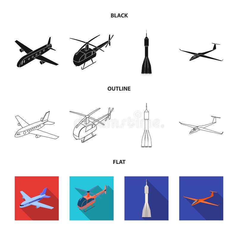 Conception de vecteur d'ic?ne de transport et d'objet Placez du transport et de l'illustration courante de glissement de vecteur illustration stock