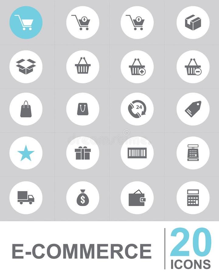 Conception de vecteur de COMMERCE ÉLECTRONIQUE d'icône illustration de vecteur