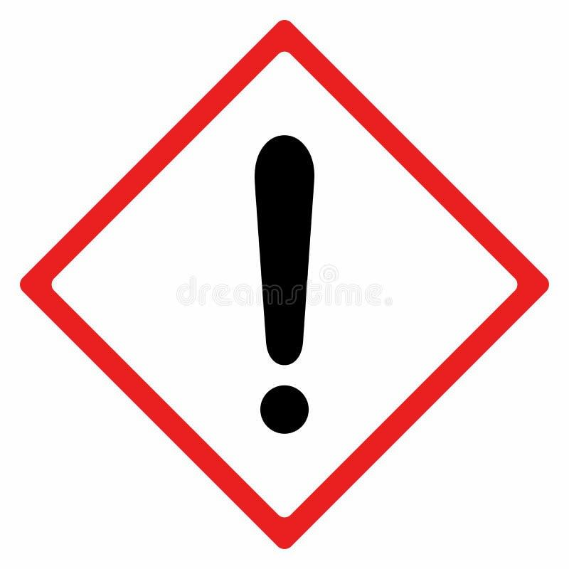 Conception de vecteur de panneau d'avertissement photographie stock libre de droits