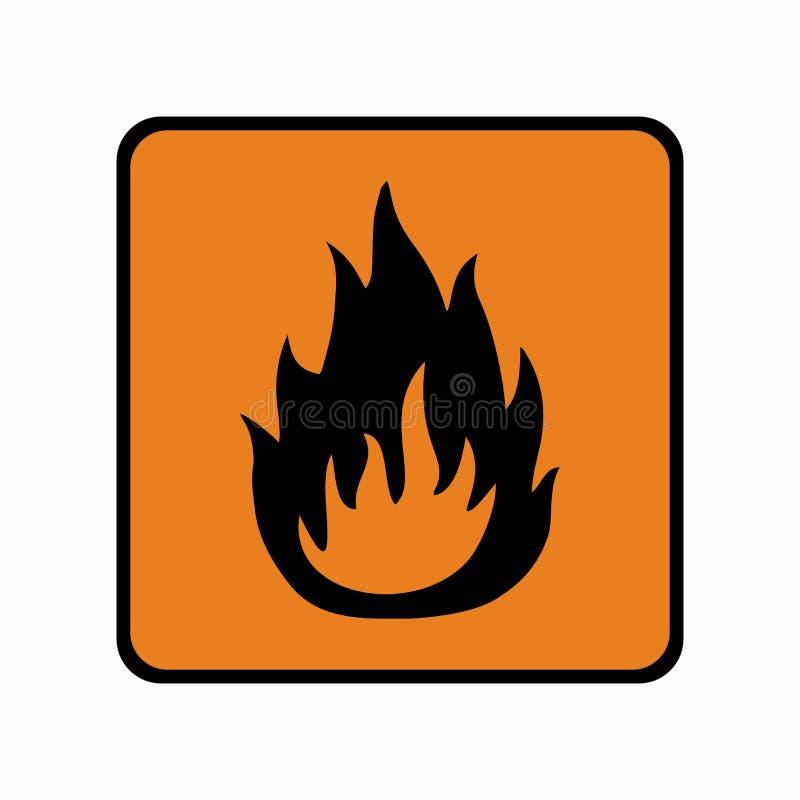 Conception de vecteur de signe de matériel inflammable images libres de droits