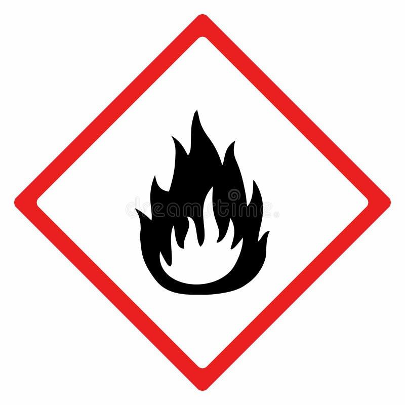 Conception de vecteur de signe de matériel inflammable photo stock