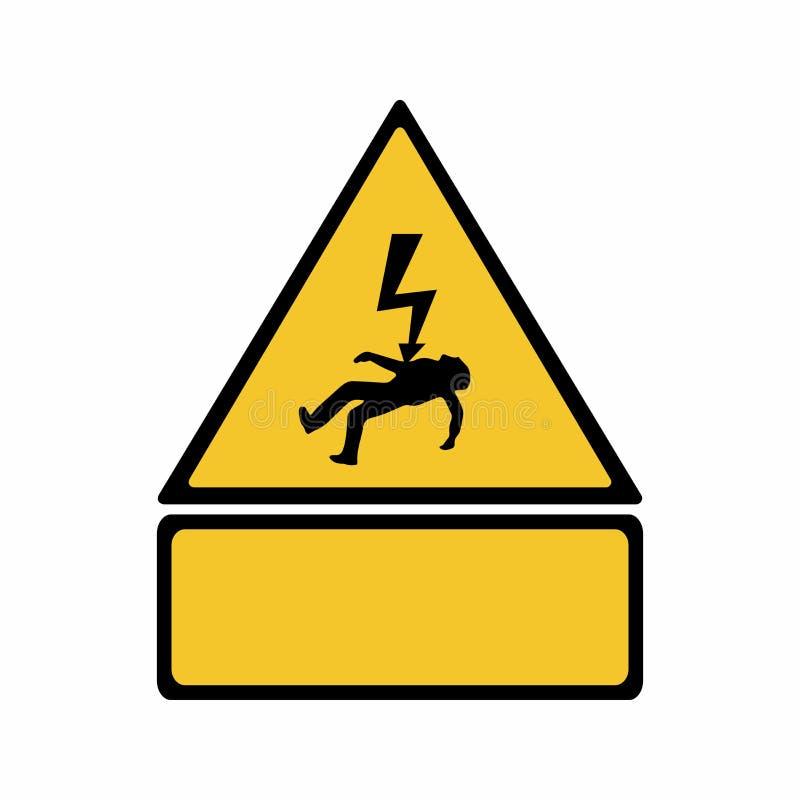 Conception de vecteur de signe de risque de l'électricité images libres de droits