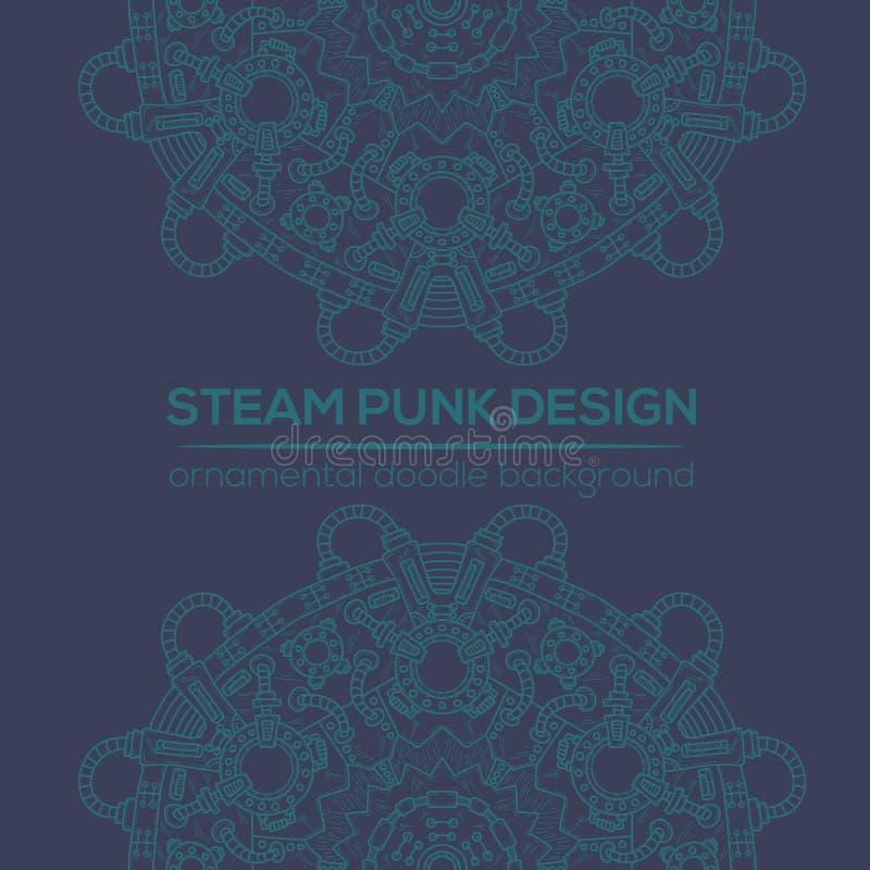 Conception de vecteur de Steampunk avec les éléments techniques industriels illustration de vecteur