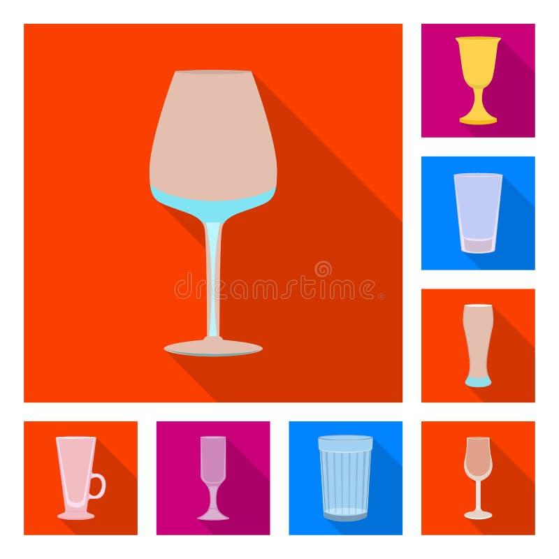 Conception de vecteur des boissons et du signe de restaurant Collection des boissons et du symbole boursier de c?l?bration pour l illustration stock