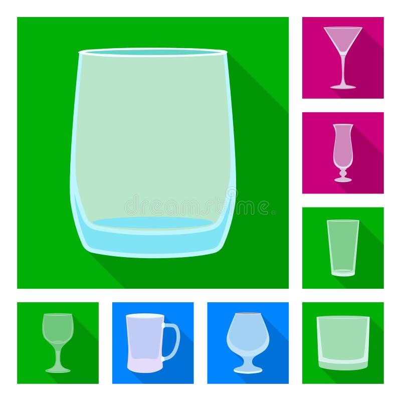 Conception de vecteur des boissons et du symbole de restaurant Collection des boissons et de l'illustration de vecteur d'actions  illustration libre de droits