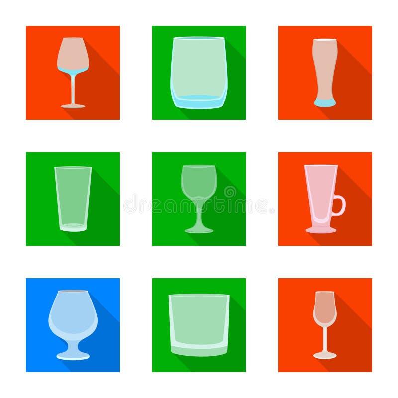 Conception de vecteur des boissons et du symbole de restaurant Placez des boissons et du symbole boursier de c?l?bration pour le  illustration de vecteur