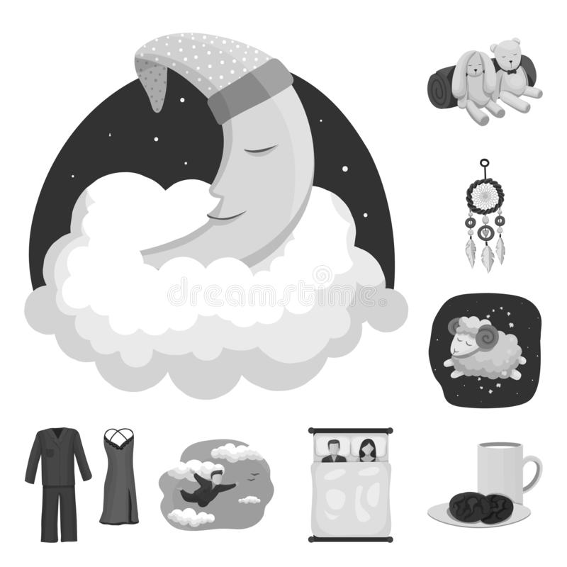 Conception de vecteur des rêves et de l'icône de nuit Ensemble de rêves et icône de vecteur de chambre à coucher pour des actions illustration libre de droits