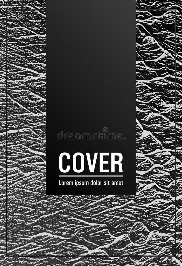 Conception de vecteur de disposition de couverture de magazine illustration stock