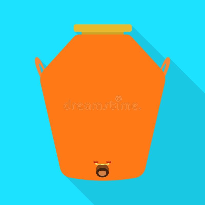 Conception de vecteur de distillerie et de signe de processus Placez de la distillerie et du symbole boursier d'industrie pour le illustration de vecteur