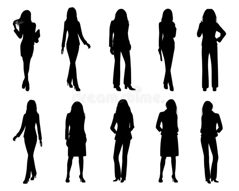Conception de vecteur de femme d'affaires de silhouette illustration de vecteur