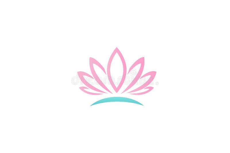 Conception de vecteur de fleur de lotus de logo illustration libre de droits