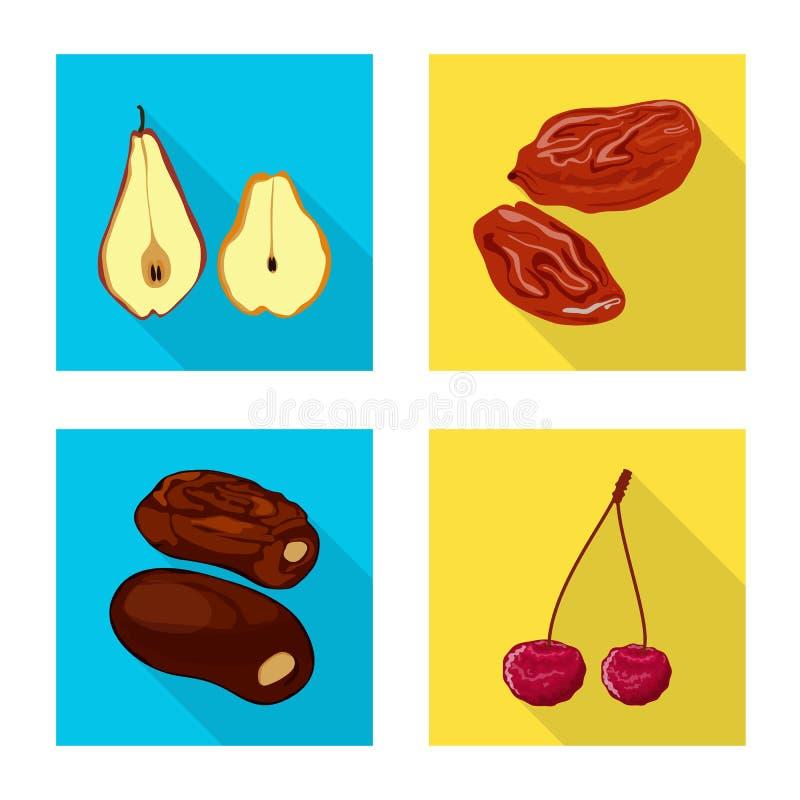 Conception de vecteur de fruit et de symbole sec Collection d'ic?ne de vecteur de fruit et de nourriture pour des actions illustration de vecteur