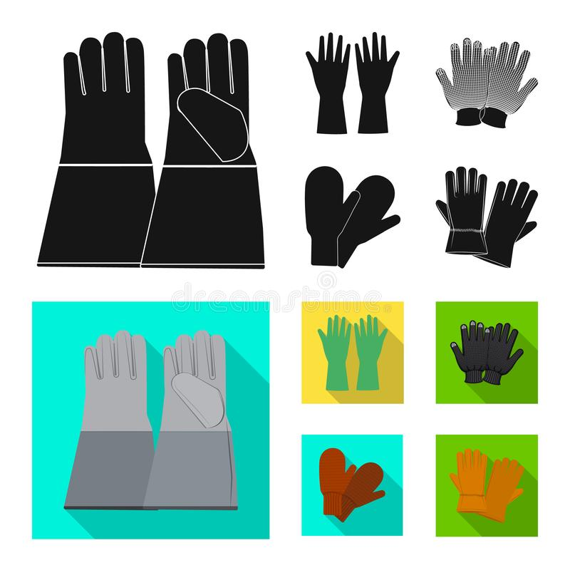 Conception de vecteur de gant et de symbole d'hiver Collection de l'illustration courante de vecteur de gant et d'?quipement illustration libre de droits