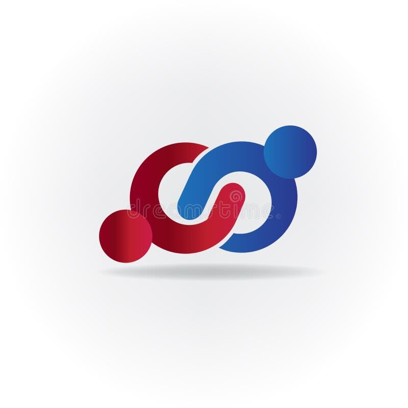 Conception de vecteur de logo de carte de visite professionnelle de visite d'identité de symbole d'infini d'icône d'affaires de p illustration libre de droits
