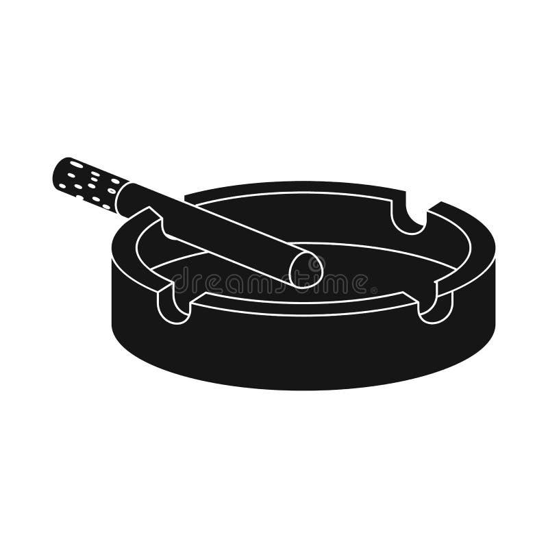 Conception de vecteur de logo de cendrier et de cigarette Collection de symbole boursier de cendrier et de déchets pour le Web illustration libre de droits