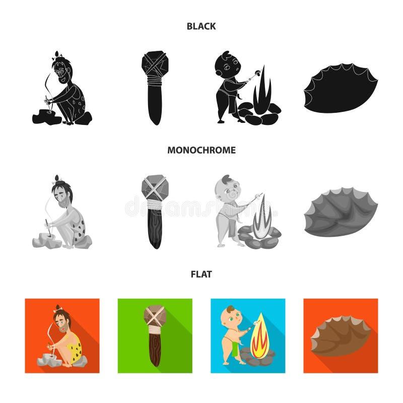 Conception de vecteur de logo d'évolution et de préhistoire Collection de symbole boursier d'évolution et de développement pour l illustration libre de droits