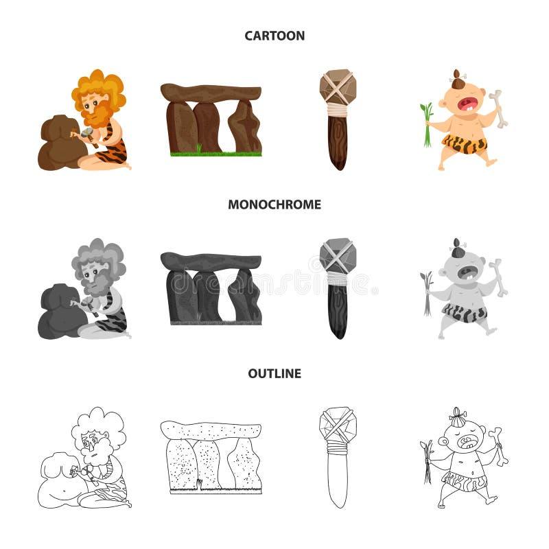 Conception de vecteur de logo d'évolution et de préhistoire Placez du symbole boursier d'évolution et de développement pour le We illustration de vecteur