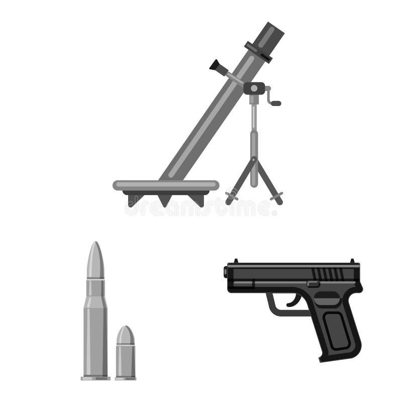 Conception de vecteur de logo d'arme et d'arme à feu Collection de l'illustration courante de vecteur d'arme et d'armée illustration de vecteur