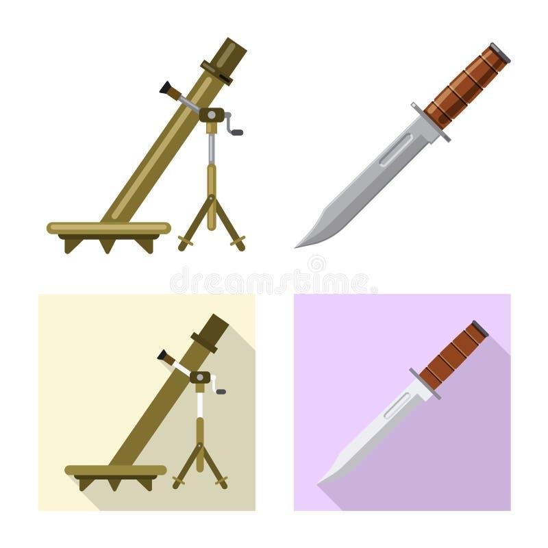 Conception de vecteur de logo d'arme et d'arme à feu Collection de symbole boursier d'arme et d'armée pour le Web illustration libre de droits