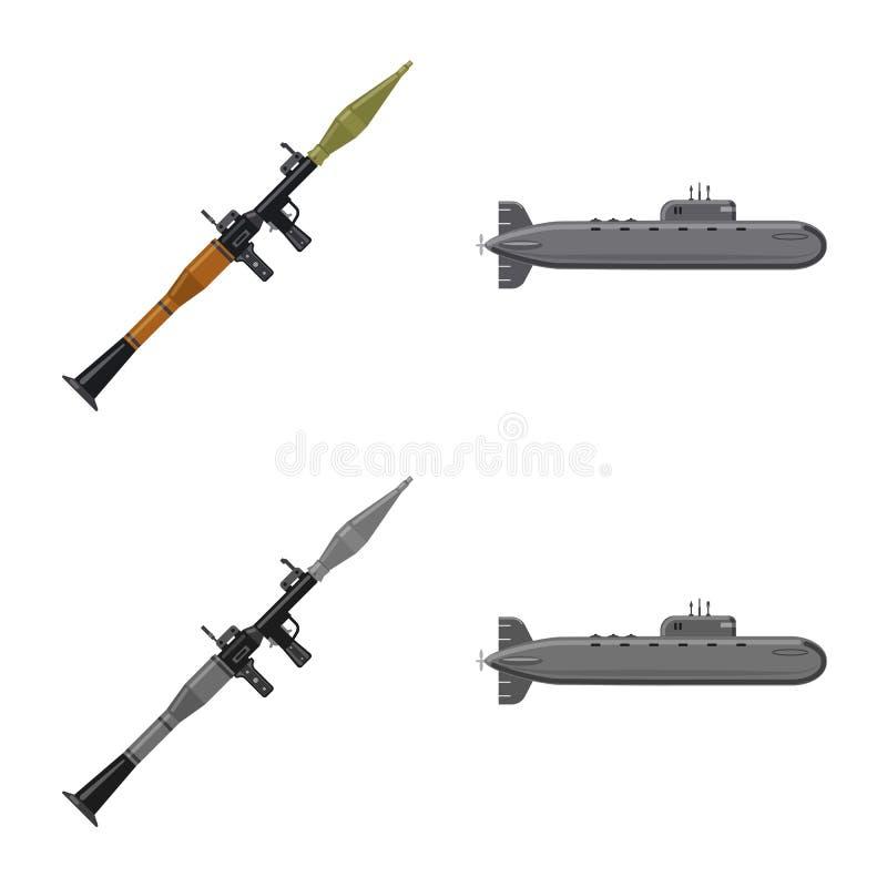 Conception de vecteur de logo d'arme et d'arme à feu Ensemble d'icône de vecteur d'arme et d'armée pour des actions illustration de vecteur