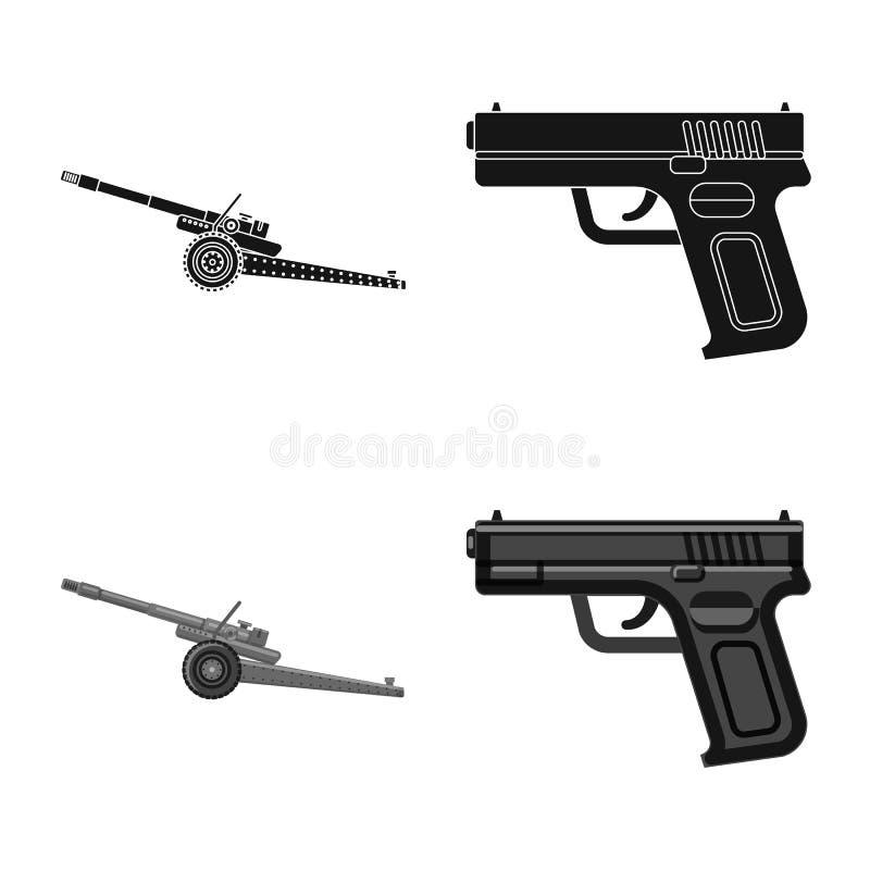 Conception de vecteur de logo d'arme et d'arme à feu Ensemble d'illustration courante de vecteur d'arme et d'armée illustration de vecteur