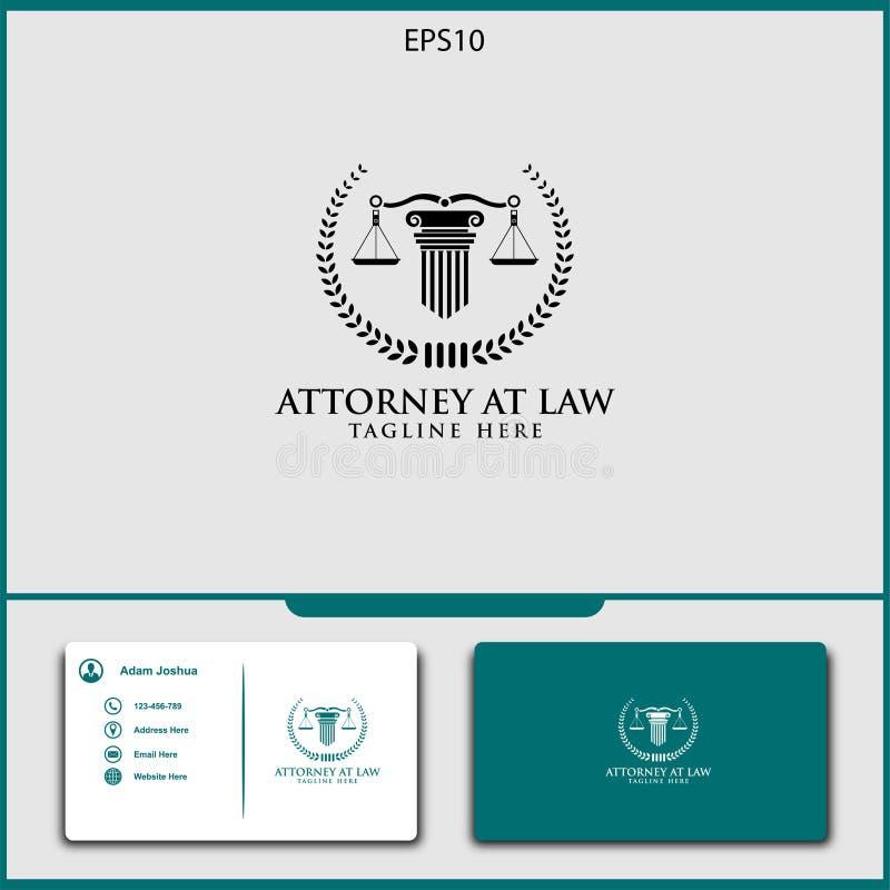 conception de vecteur de logo de mandataire d'illustration de vecteur de justice illustration libre de droits