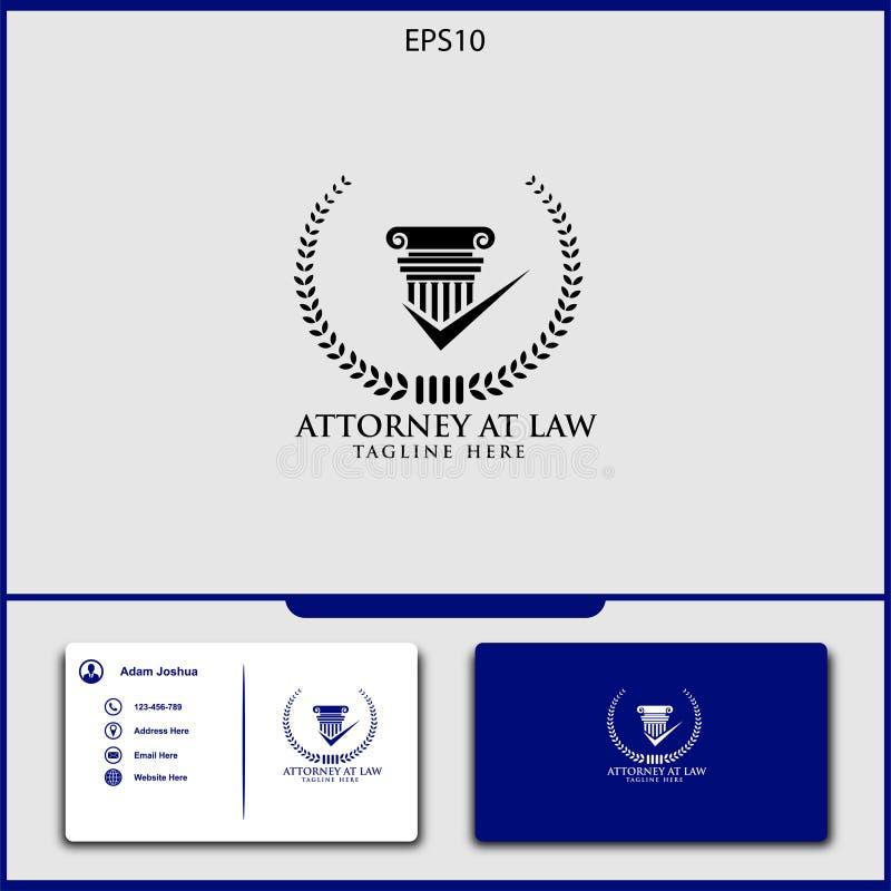conception de vecteur de logo de mandataire d'illustration de vecteur de justice illustration de vecteur