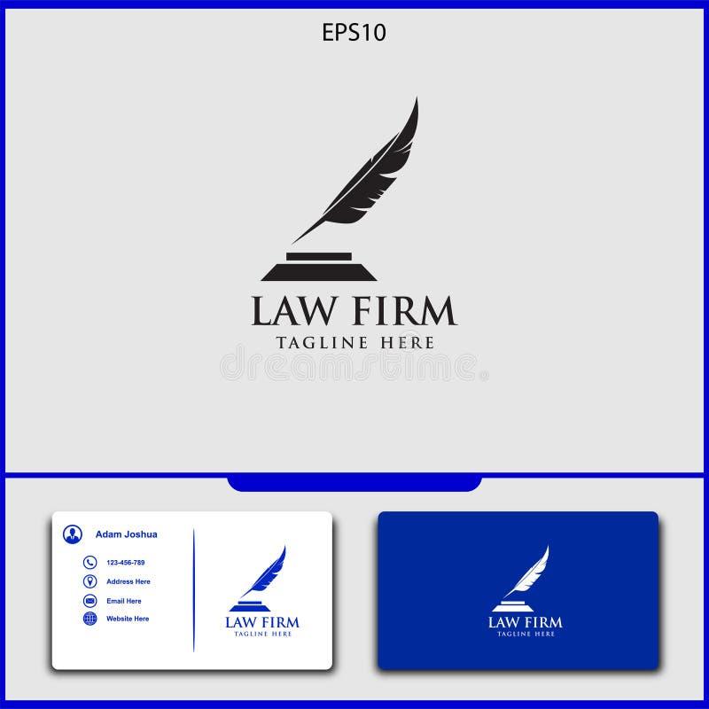 conception de vecteur de logo de mandataire d'illustration de vecteur de justice illustration stock