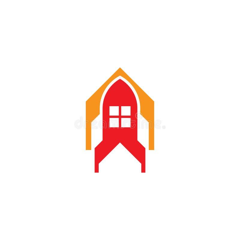 Conception de vecteur de logo de Rocket de Chambre illustration de vecteur