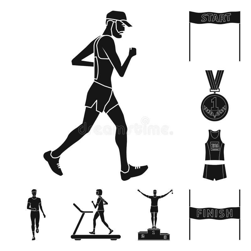 Conception de vecteur de logo de santé et de forme physique Collection d'icône de vecteur de santé et de sprint pour des actions illustration stock