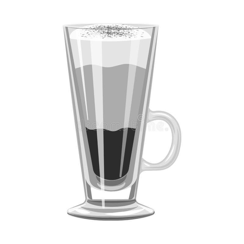 Conception de vecteur de logo de tasse et de dessert Placez du symbole boursier de tasse et de milk-shake pour le Web illustration de vecteur